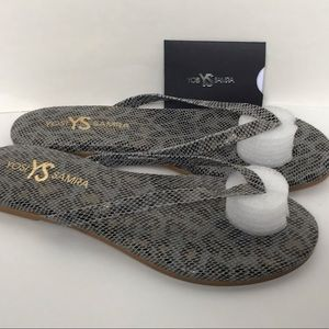 NEW Yosi Samra Rivington Flip Flip Sandals Size 6